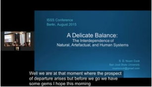 A Delicate Balance: The Interdependence of Natural, Artefactual and Human Systems - Prof. Noam Cook